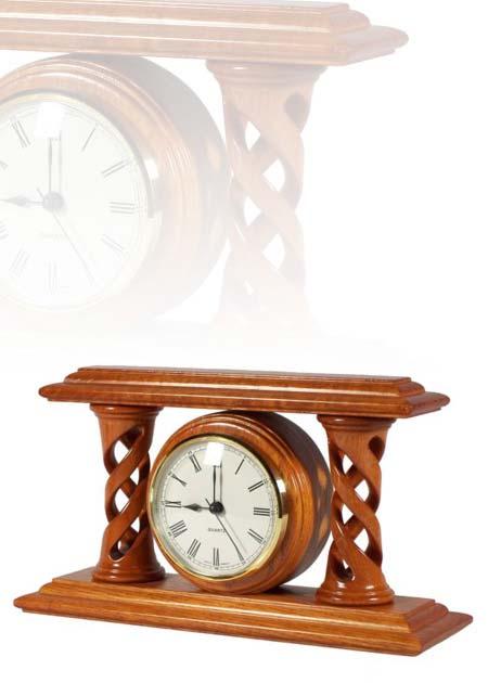 Asztali óra cseresznye színben, római számlappal, MC270