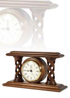 Asztali óra gyönyörű dió színben, MC250