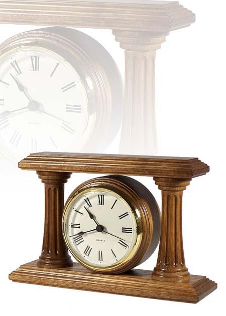 Asztali óra gyönyörű mart díszoszlopokkal, MC130