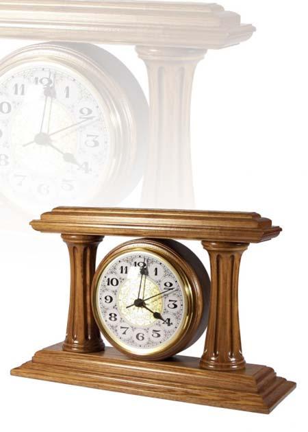 Asztali óra nagy méretben, tölgy, arab számlappal, MC281