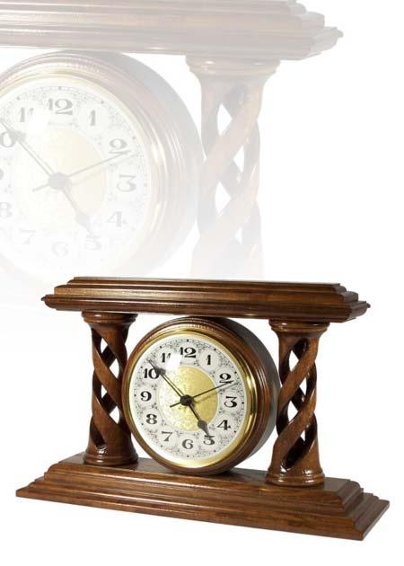 Asztali óra nagy méretű, dió színben, MC290
