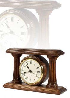 Asztali óra római számlappal, dió, MC120